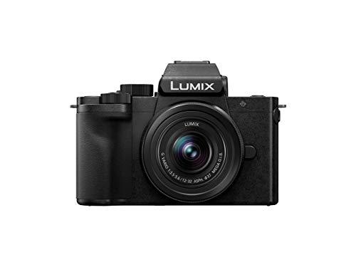 Panasonic Lumix DC-G100VEC-K - Cámara Vlogging EVIL Grabación 4K (Calidad de sonido, lente 13-32 mm F3.5 - 5.6, compacta y ligera, Para Vlogger,tripode-empuñadura, Wi-Fi, Bluetooth, HDMI) Negro