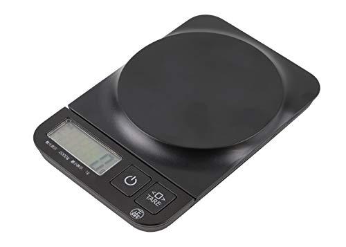 【BLKP】 パール金属 キッチン スケール 限定 マット ブラック デジタル 計り 2.0kg / 1g 計量用 BLKP 黒 D-5159