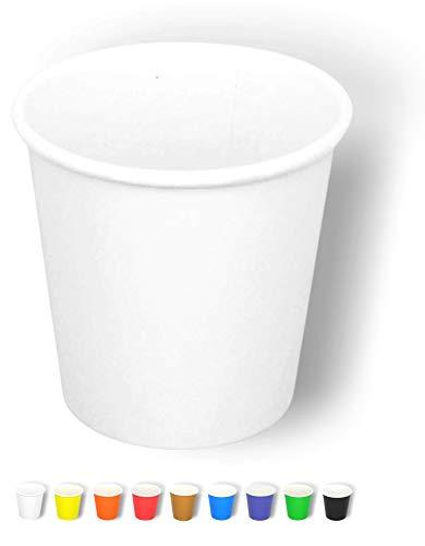 Cocobanana Bicchierini di Carta da 75ml, Monouso, Compostabili - Cartone per Uso Alimentare, Inodore e Insapore - Bicchieri Piccoli per Bevande Calde e Fredde, caffè, Espresso - [Bianco], [50]