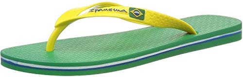 Ipanema Herren Classica Brasil II HOM Zehentrenner, Green Yellow, 43/44 EU