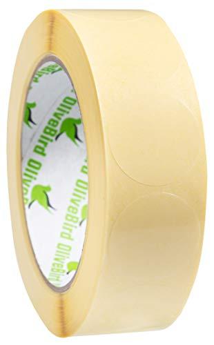 1000 Klebepunkte Transparent Rund Etiketten Größe 3 cm Durchmesser / 30mm Rollen von 1.000 Stück Aufkleber