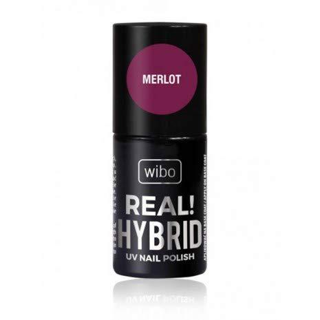 WIBO REAL HYBRID UV NAGELLAK MERLOT 02