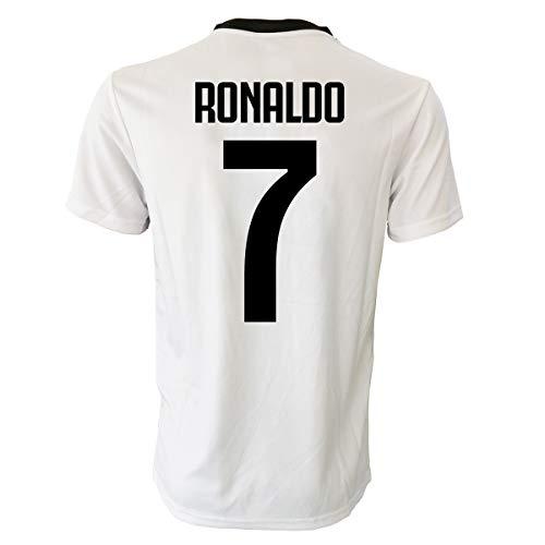 Perseo Trade Cristiano Ronaldo 7 CR7 Kinder (Größen 2 bis 4 / 6 / 8 10 12) Erwachsene (S M / L XL), WEISS SCHWARZ, 4/5 Anni