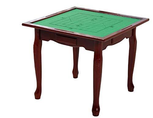 SHY Mahjong Table Mahjong Table Mesa de Mahjong de Madera Maciza para el hogar Mesa de ajedrez para Frotar a Mano Simple Mesa de ajedrez para Uso en Interiores y Exteriores (