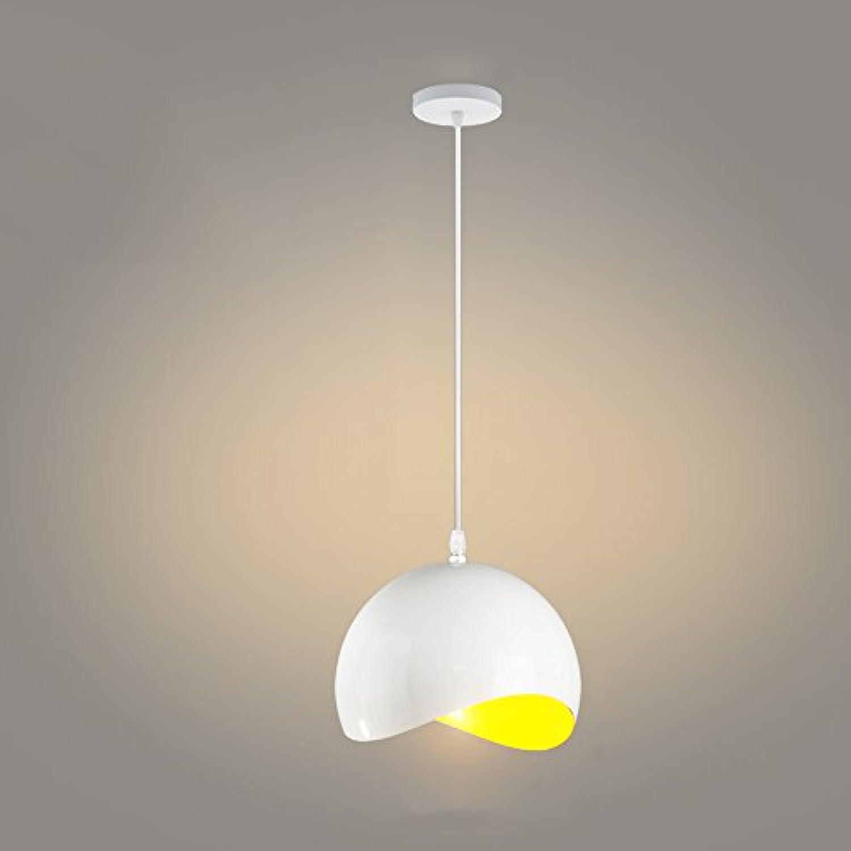 Nordic Aluminium Kronleuchter, postmoderne runde LED Beleuchtung Esstisch Leuchter Deckenleuchten europischen minimalistischen Schlafzimmer Korridor Cafe Pendelleuchte (Farbe   Gelb-30  24cm)