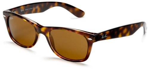 Ray-Ban 2132, Gafas de Sol Unisex, Multicolor (Amarillo / Marrón), 55mm