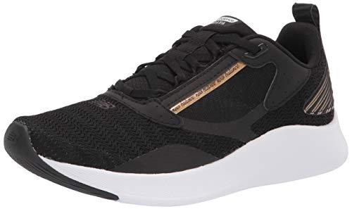 New Balance Women's DynaSoft Beaya V1 Running Shoe, Black/Gold Metallic/White, 9