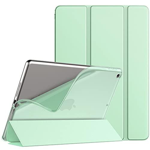 """TiMOVO Funda para Nuevo iPad de 8ª Generación 2020, Nuevo iPad 7ª Generación 10.2"""" 2019, Delgado y Suave Protector de TPU con Auto Estela/Sueño Cover Magnética para iPad 10.2-Inch Tableta - Verde"""