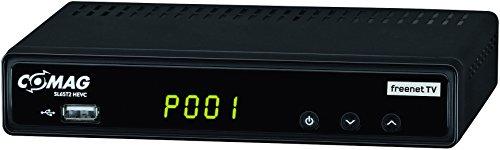 Comag SL65T2 Full-HD HEVC DVB-T/T2 Receiver (PVR Ready, H.265, HDTV, HDMI, IRDETO Zugangssystem für Freenet TV, Mediaplayer, USB 2.0, 12V) Schwarz