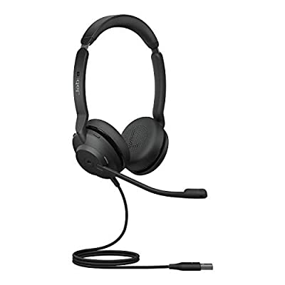 Jabra Evolve2 30 Headset – Noise Cancelling Microsoft Teams Certified Stereo Headphones with 2-Microphone Call Technology – USB-A Cable – Black from Jabra