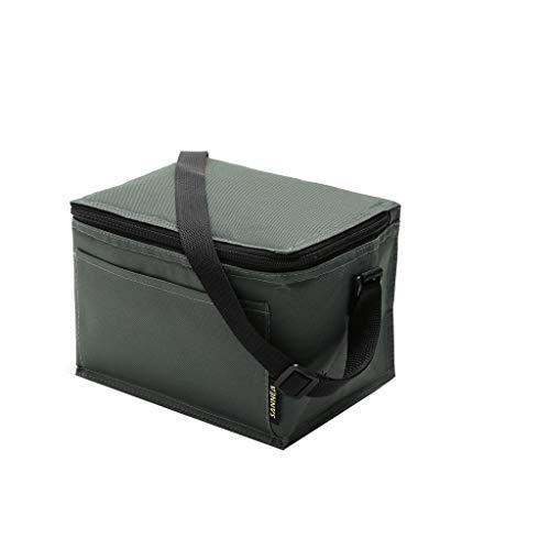 Yookstar - Bolsa para Almuerzo aislada y térmica, Bolsa para el Almuerzo, Bolsa para pícnic, Fiambrera y Botellas de Agua, Tela de algodón y lámina de Aluminio, Verde Militar, 22.5X16.5X16cm