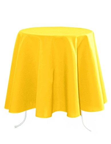 Lovely Casa n14689021 Nelson tafelkleed polyester geel 160 x 160 cm