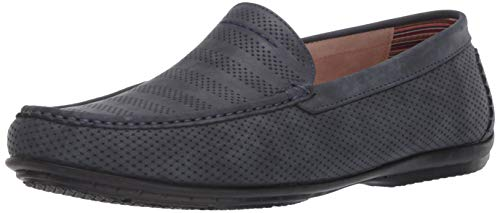 STACY ADAMS Men's Cirrus Moc Toe Slip-On Loafer Driving Style, Navy