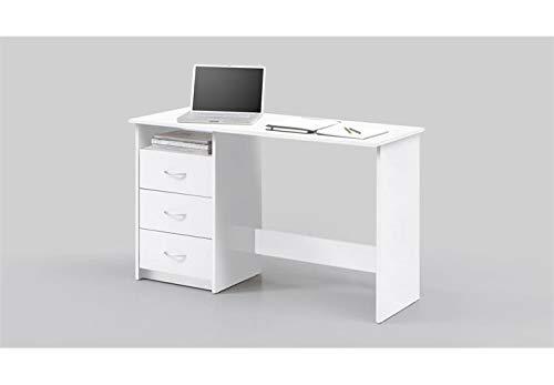 Stella Trading Schreibtisch Jugendzimmer Computertisch Bürotisch Weiß, BxHxT 120 x 76 x 50 cm