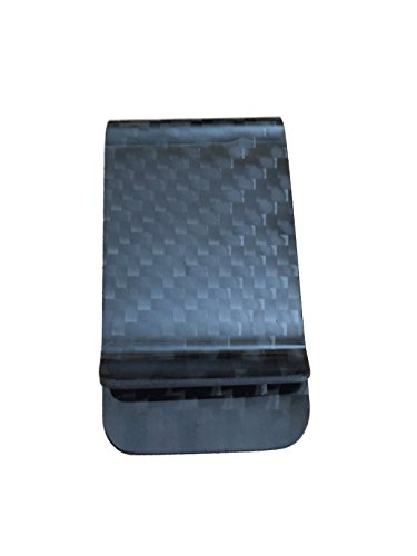 1 X Genuine Carbon Fiber Glossy Money Clip Credit Card Business Card Cash Holder