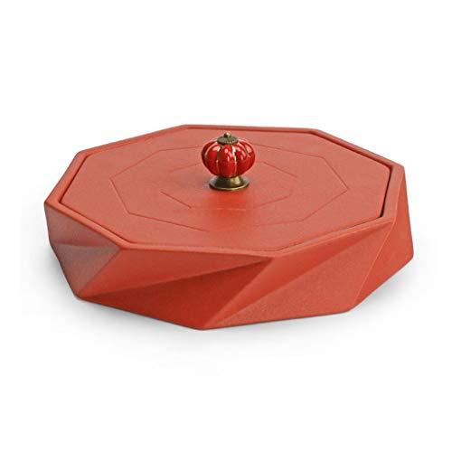 WZHZJ Cristal Vidrio Secado Bandeja de Frutas sinoamericano Europeo Estilo Sala de Estar hogar Creativo Matrimonio Transparente Neto Rojo Fruta Cesta Tarro