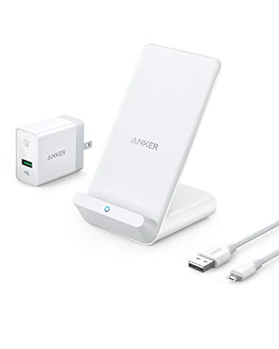 Anker PowerWave 7.5 Stand(7.5W ワイヤレス充電器 )【Quick Charge 3.0対応急速充電器付属】iPhone X / 8 ...