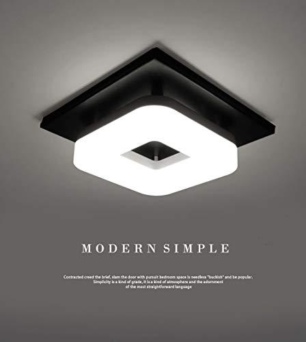 Artpad 12W llevó la luz de techo, instale fácilmente la lámpara brillante del soporte de la superficie de la plaza negra para el cuarto de baño del comedor y la luz blanca de la oficina