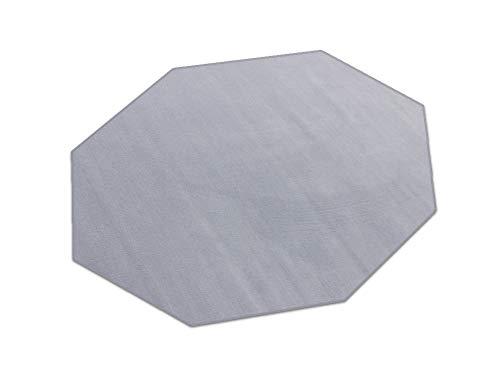 HEVO Romeo grau Teppich | Kinderteppich | Spielteppich 200 cm Achteck