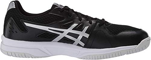 ASICS Men's Upcourt 3 Volleyball Shoes, 9M, Black/Pure Silver