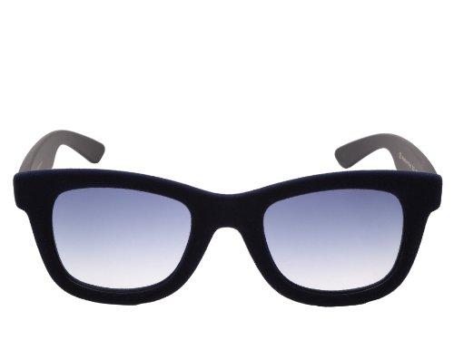 Italia Independent - II 090V, Geométrico, terciopelo/plástico, hombre, VELVET DARK BLUE BLACK/GREY BLUE SHADED(021 D), 50/20/140