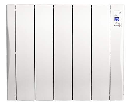 Haverland WI5 - Emisor térmico Autoprogramable | 800W | Fundición de Aluminio de Alta Inercia | Opción conectable WIFI (*) | Uso Ideal +6h/día | +/- 7-12 m² | Blanco