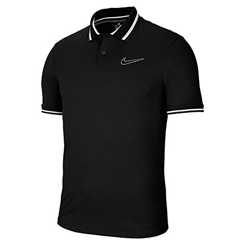 NIKE M Nkct Slam Polo PS Nt Short Sleeve, Hombre, Black/Black, S