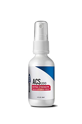 ACS 200 Extra Strength Advanced Cellular Colloidal Silver 200 ppm Spray Bottle 2oz by Results RNA, Made in the USA