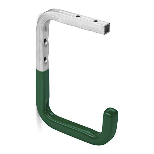 10 Stück OrgaTech Wandhaken 160 x 115 mm grün bis 30 Kg Tragkraft mit Gummierung Regalbodenträger Gerätehalter