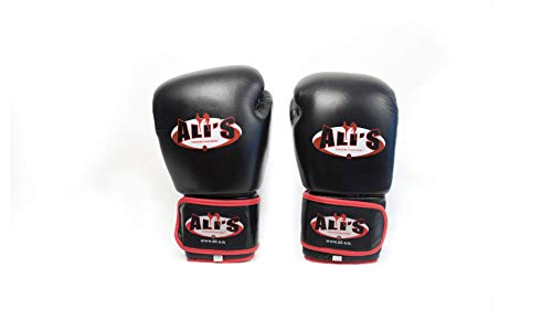 Ali's Fightgear BG TR Boxhandschuhe schwarz Größe 18 Oz - XL