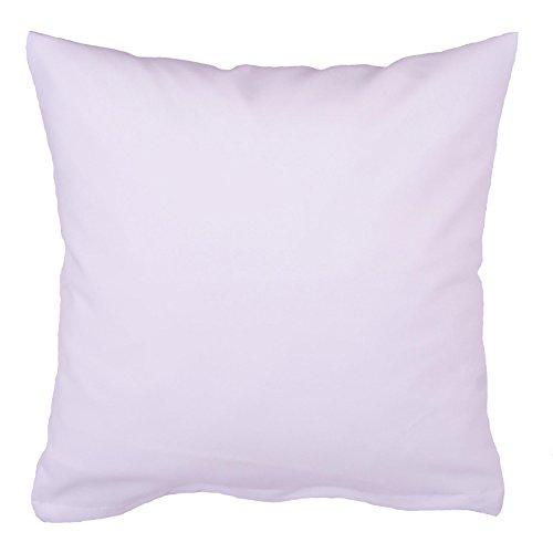 Hans-Textil-Shop Kissenbezug 50x50 cm Weiß Baumwolle (Deko, Sofa, Kissen, Kopfkissen, Kissenhülle)