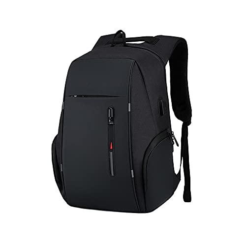 Kfhfhsdgsamsjb Mochila portátil de Viajes para Hombres, Gran Capacidad Business USB Cargo Mochila Universidad Estudiante Escolar Escolar (Color : Black)