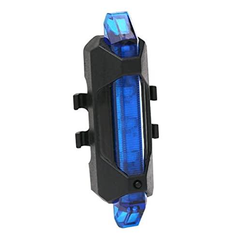 De La Bicicleta Led De Luz Trasera USB Recargable Impermeable De La Luz Trasera Advertencia De Seguridad De La Lámpara (Azul)