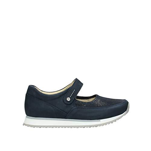 Wolky Comfort Comfortschoenen e-Step - 11800 blauw stretch nubuck - 41