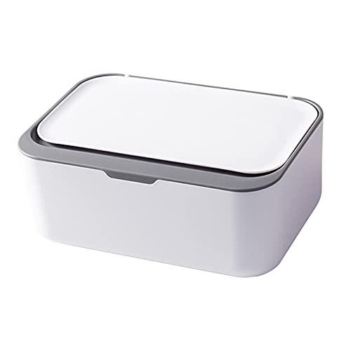 MagiDeal Caja de plástico para pañuelos con Tapa, Soporte para toallitas para...