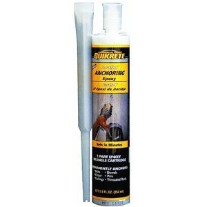 Fastest Anchor Epoxy 8.6 oz Size, Gray by Quikrete Co. (English Manual)