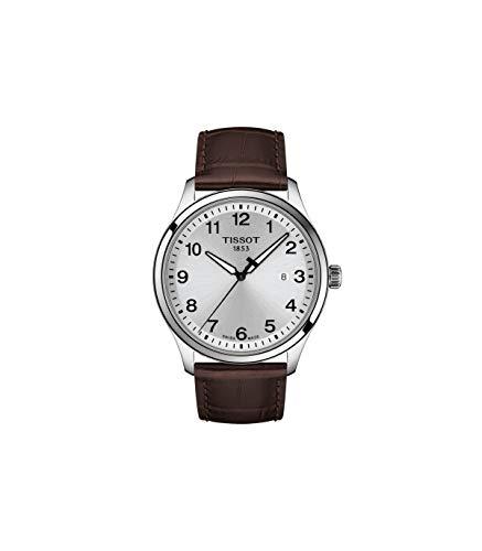 TISSOT Herren Analog Quarz Uhr mit Leder Armband T1164101604700