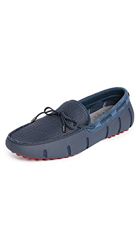 SWIMS Shoes Braided Lace Lux Loafer - Navy/Deep Red Men's Size 7 - Boat/Deck Shoes