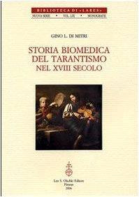 Storia biomedica del tarantismo nel XVIII secolo