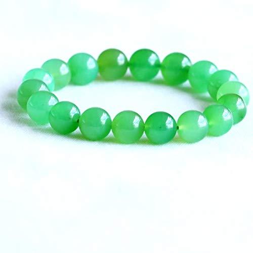 LOVEKUSH 50% Off Gemstone Jewellery 1 Strands Natural Grass Green Australia Jade Chrysoprase Stretch Bracelet Round Beads 11mm 05063 Code:- RADE-30054
