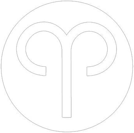ピクトグラム おひつじ座 ステッカーデカール (白色 )