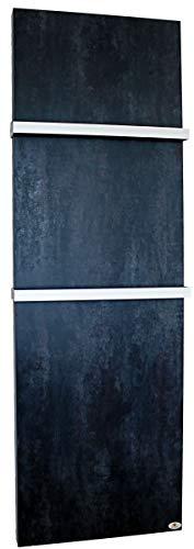 Infrarot Badheizungen Keramik mit Handtuchhaltern Darknight matt, 1060 Watt, 2000 x 640 x 10 mm