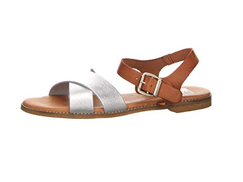 Test Damen Sandalen Sandale Silber Gr. 40