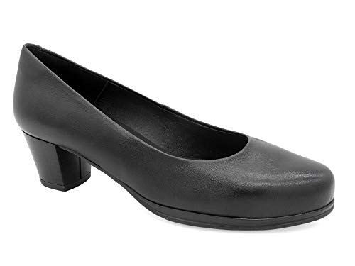 Desireé Damen Leder Pumps mit 5-cm Absatz & Total-Flex Komfort System, 1050 schwarz eu-39