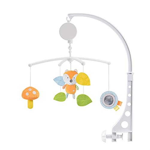 LUBINGT Telescope Rubber Baby Toys 0-12 Months Crib Mobile Bed Bell Rattles Educational Toy for Newborns Car Seat Hanging Infant Crib Spiral Stroller Toy (Color : Crib Bell D4)