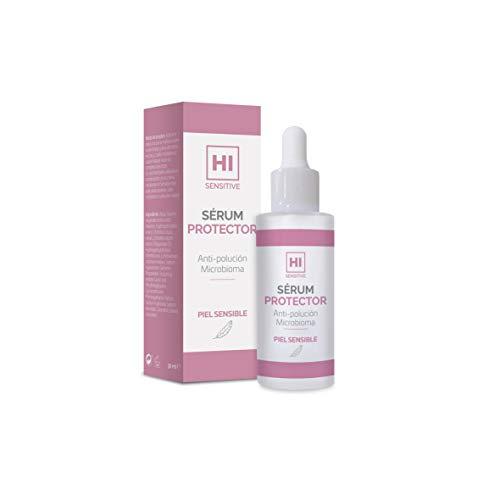 HI Sensitive   Sérum Protector   Sérum Facial Antipolución de Textura Ligera   Cuidado e Hidratación Diaria de las Pieles Sensibles   Cara, Cuello y Escote