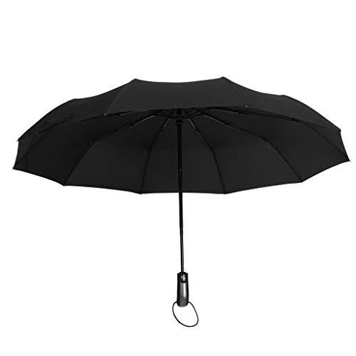 SDENSHI Regenschirm Auf-Zu-Automatik Partnerschirm stabil groß 104cm sturmsicher Taschenschirm Kompaktschirm für Erwachsene Kinder - Schwarz