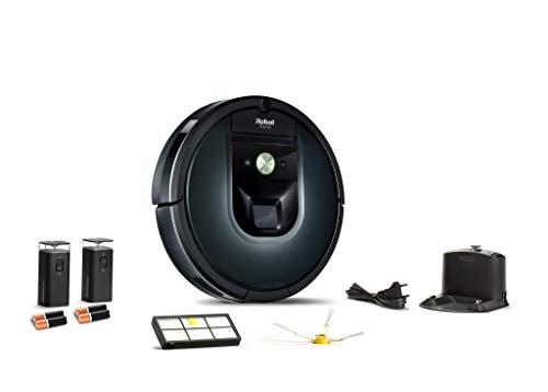 iRobot Roomba 981 - Robot Aspirador para Alfombras con Potencia de Succión, Multi Habitación, Tecnología Dirt Detect, Conexión WiFi y Programable por App, Compatible Alexa