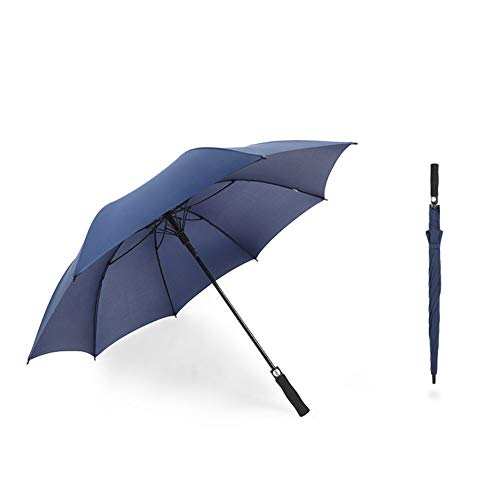 WZP-8-bone golf straight umbrella, Windproof, Waterproof - Superior Heavy Duty Automatic Umbrella Defies High Wind, Sun & Rain Suitable for travel sports,Blue