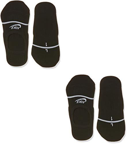 Nike U SNKR SOX ESNTL NO Show 2P Socks, Black/White, 41-43 EU
